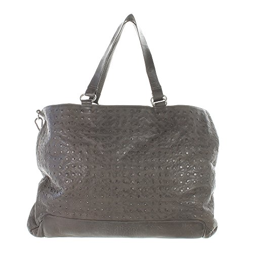 Another Bag, Borsa a spalla donna grigio Grau
