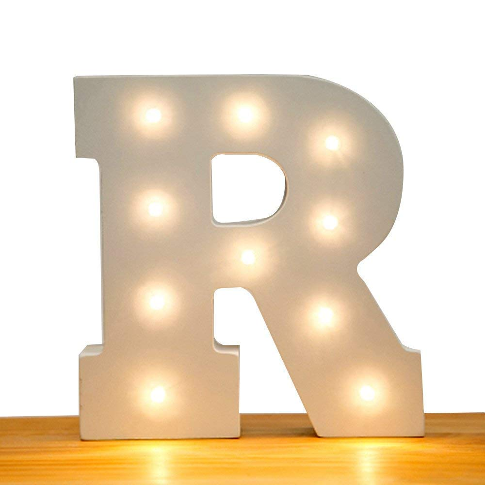 QINA-STAR Luces LED Marquee Letra 26 Alfabeto Luz Up Marquee ...