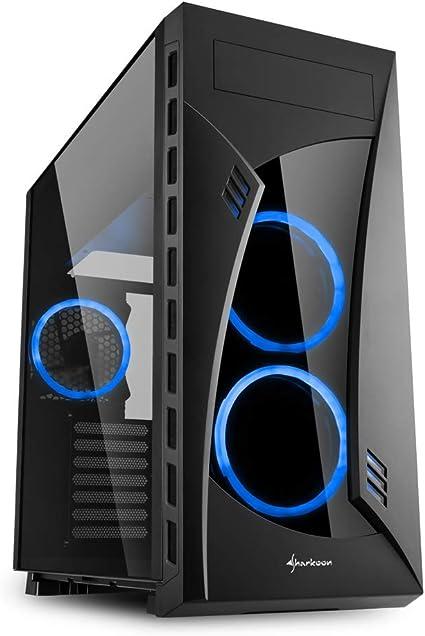 Sharkoon NIGHT SHARK - Caja de Ordenador, PC Gaming, Semitorre ATX, Negro/Azul: Sharkoon: Amazon.es: Informática