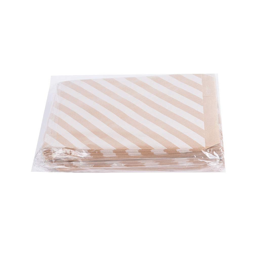 Pink Pink Polka Dot Stripe Small Paper Gift Bags for Birthday Gift JNCH 100 Pack Candy Paper Bags Wedding 13x16.5cm