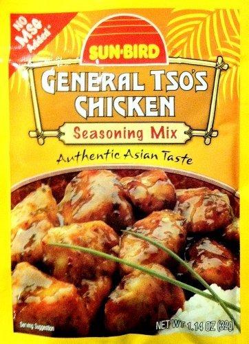 (Sun-Bird GENERAL TSO's CHICKEN Asian Seasoning Mix 1.14oz (10-pack) by Sun Bird)