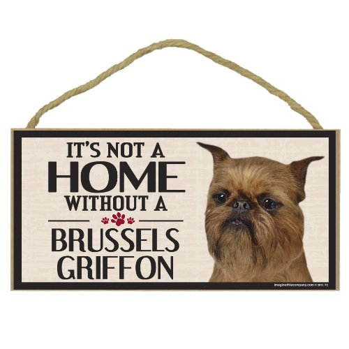 Imagine This Wood Sign for Brussels Griffon Dog Breeds -