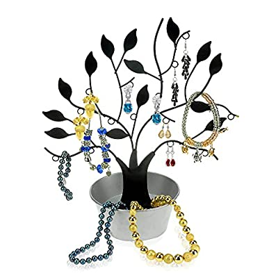 Geff House Jewelry Hanging Tree Display Organizer