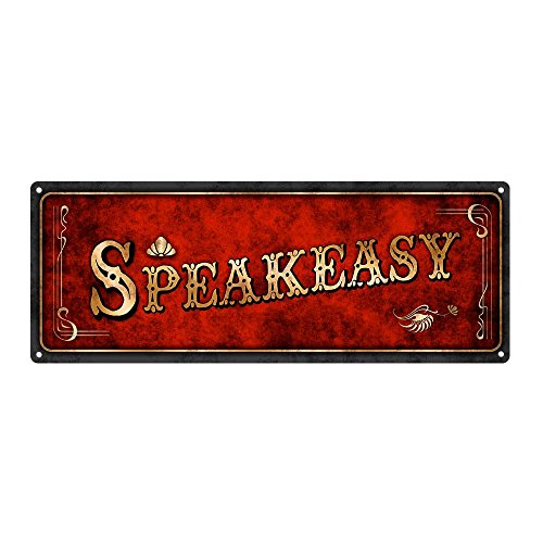 Homebody Accents  Red Speakeasy Metal Sign, 4