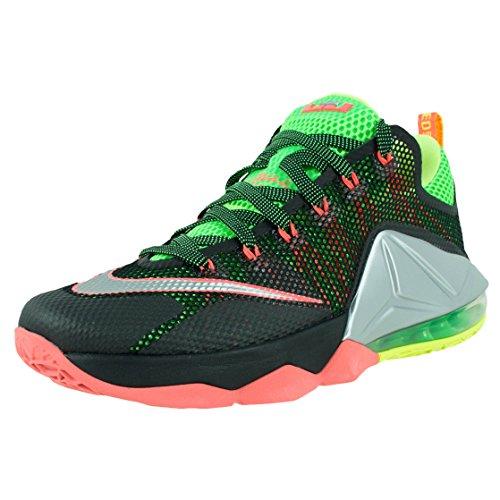 green Silver volt Metallic Lebron Mens Basketball XII Strk Shoe Low Nike Black 4UHzq4