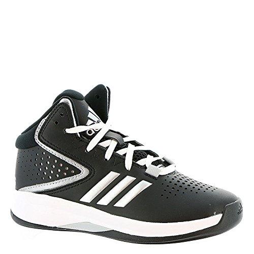 adidas Performance Boys' Cross 'Em up 2016 Basketball Shoe, Black/Metallic Silver/Light Onix, 11 Medium US Little Kid