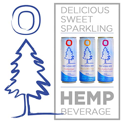 51s2QnbU6sL - Tree Below Zero Sparkling Juice Flavored Hemp Infused Soda, Full Case of 12 12oz cans (Cranberry Ginger)