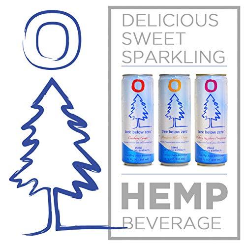 51s2QnbU6sL - Tree Below Zero Sparkling Juice, 6 flavor Variety Pack - 12oz Cans Cranberry Ginger, Mandarin Blood Orange, Blueberry Raspberry Pomegranate hemp water - Only on Amazon.