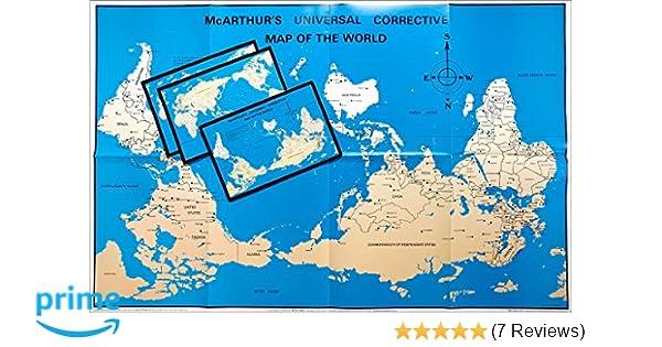 McArthur\'s Universal Corrective World Map paper folded ...