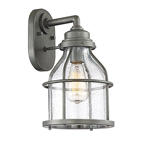 Designers Fountain 23131-WI Wall Lantern, Weathered Iron by Designers Fountain
