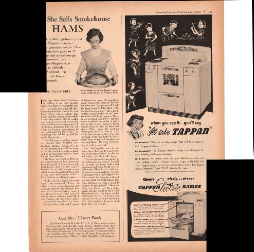 Tappan Electric Kitchen Range Choose Wisely Easy Cook 1952 Antique Advertisement