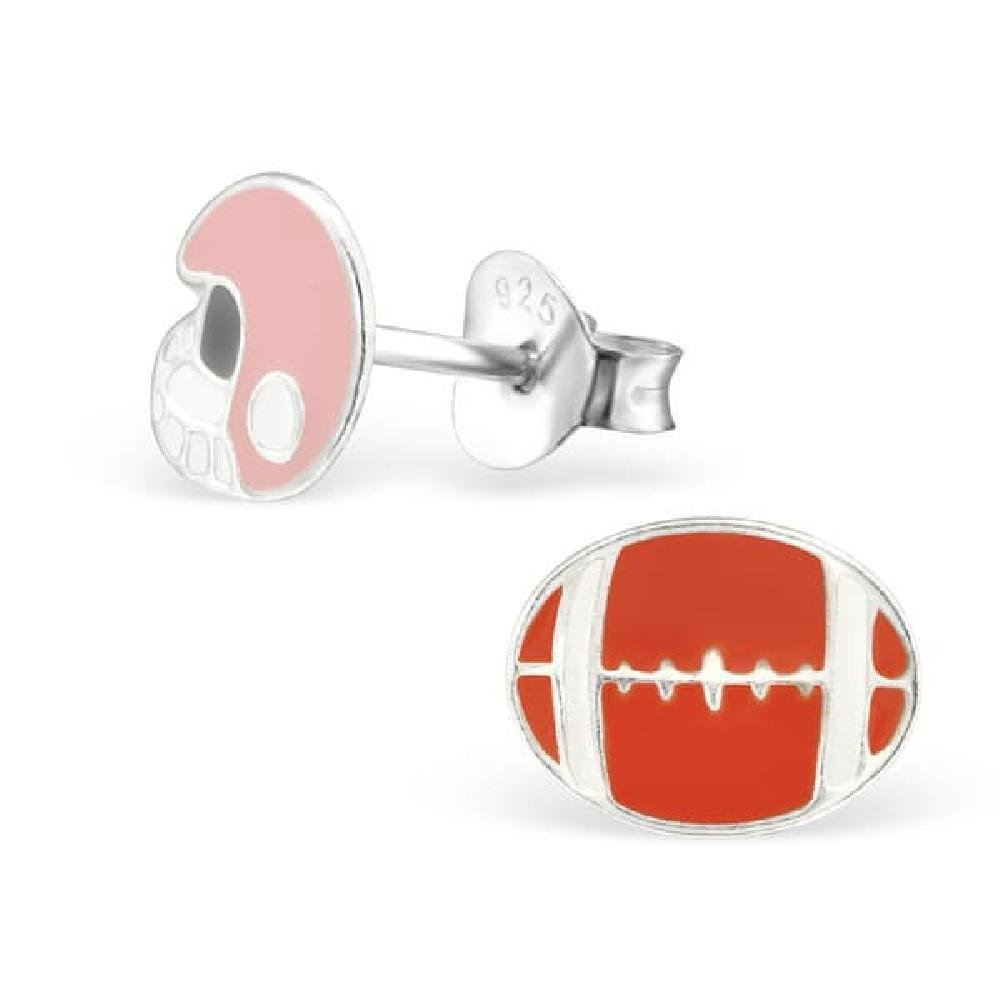 So Chic Joyas© pendientes niño balón & casco de fútbol americano ...