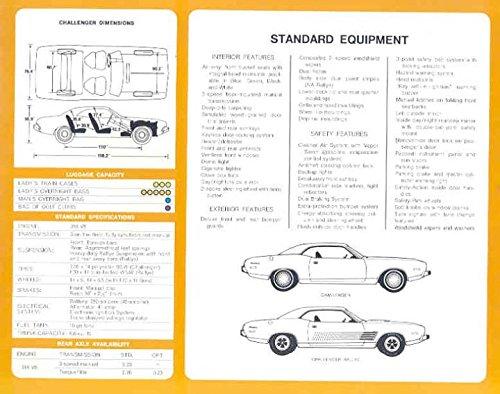 1973 Dodge Challenger Sales Brochure