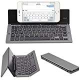 ElementDigital Portable Bluetooth Keyboard Wireless Foldable Keyboard Universal with Phone Stand for New 2017 iPad 9.7, iPad Air, iPad Air 2, iPad Pro 9.7 iOS Android Windows Tablet Phones (Deep Gray)