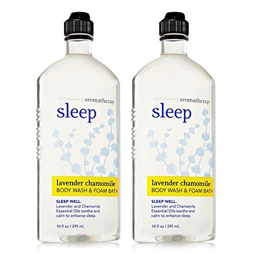 Bath Body Works Aromatherapy Sleep Lavender Chamomile Body Wash Foam Bath – 2 Pack