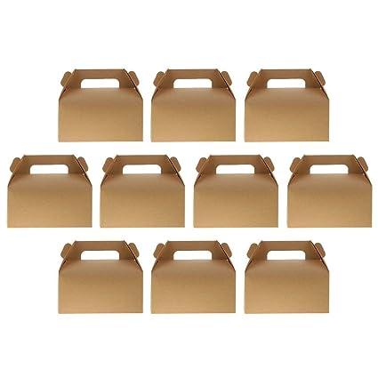 Amazon.com: 10 cajas decorativas de cartón Kraft, caja de ...