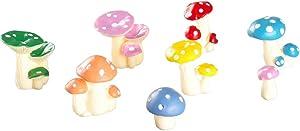 8pcs Mini Mushrooms for Fairy Garden Plants, Mushroom Figurines, Small Mushroom Decor Accessories, Resin Simulated Mushroom, Micro Landscape Garden Decoration Plant Flower Pots Ornaments,6 Sizes