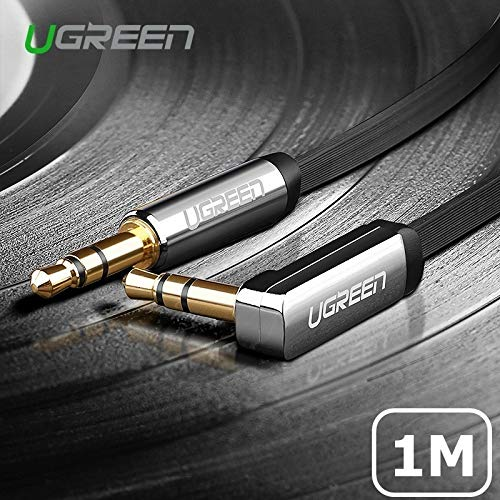 UGREEN 3.5mm Auxiliary Audio Jack to Jack Cable 90 Degree Right Angle Compatible for iPhone, iPod,...