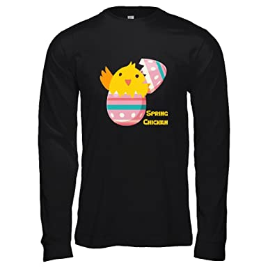 c615c8a5 Teely Shop Women's Spring Chicken My First Easter Costume Bella Canvas -  Unisex Jersey Long Sleeve