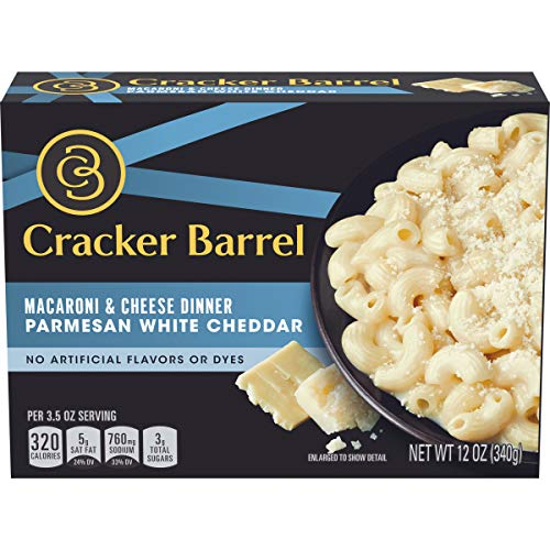 (Cracker Barrel Parmesan White Cheddar Macaroni & Cheese Dinner, 12 oz (Pack of 12))