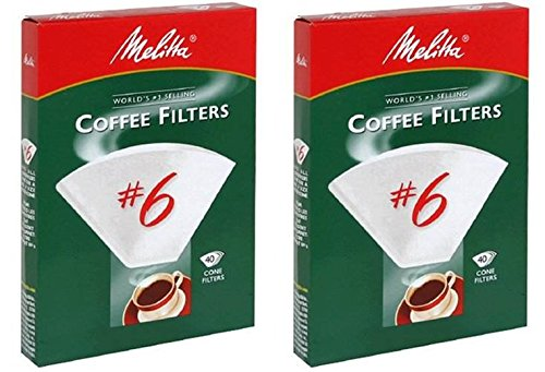 Melitta 40CT #6 White Cone Filter - 2 Pack