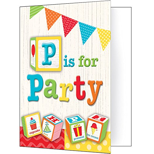 Creative Converting 329346 ABC Birthday 48-Count Party Invitations