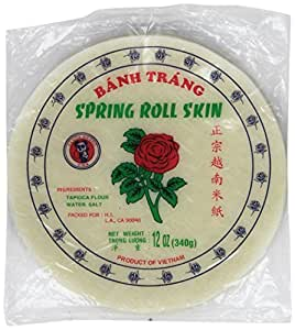 """8 1/2"""" Spring Roll Wrapper / Rice Paper: Amazon.com"""