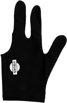 Guante de 3 Dedos de Billar Mano Izquierdo Golpe Constante Preciso Fresca Cómoda Equipo Protector Juego Recreativo - Negro: Amazon.es: Deportes y aire libre