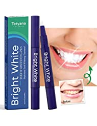Teeth Whitening Pen (2 Pack), Safe 35% Carbamide Peroxide Gel, 20+ Uses, Effective, Painless, No Sensitivity, Travel-Friendly, Easy to Use, Beautiful White Smile, Natural Mint Flavor
