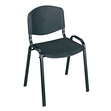 amazon com safco stacking chairs in black set of 4 part no