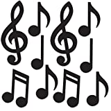 Beistle 54735-BK Mini Musical Notes Silhouettes (Value 30-Pack)