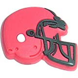 Red Football Helmet Shoe Snap Charm Jibbitz Croc Style