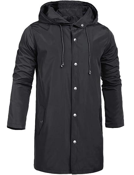 casual shoes nice cheap special promotion ZEGOLO Men's Raincoats Waterproof Jacket with Hood Windbreaker Breathable  Lightweight Outdoor Long Rain Jacket for Men S-XXL