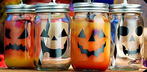 Home Essentials & Beyond 4176 15 oz. Halloween Mason Jars ()