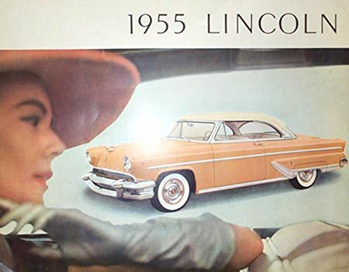 1955 Lincoln Sales Brochure Literature Book Piece Advertisement Options Specs