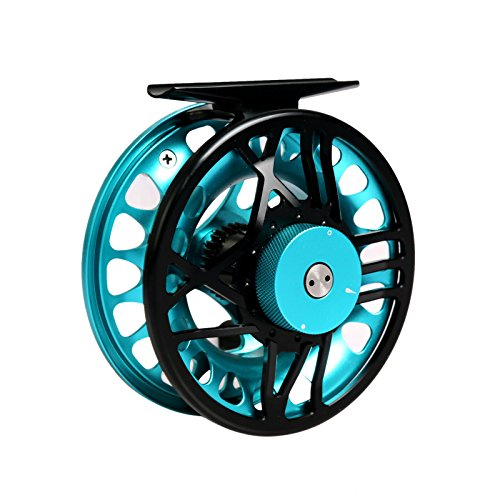 M MAXIMUMCATCH Maxcatch TimeFly 5/6/7/8wt Fly Reel CNC Machined Cut Aluminum Teflon Disc Drag System Fly Fishing Reel (Star Blue, 5/6wt) -