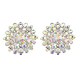 Women's Big Clip-on Sparkly Crystal Earring