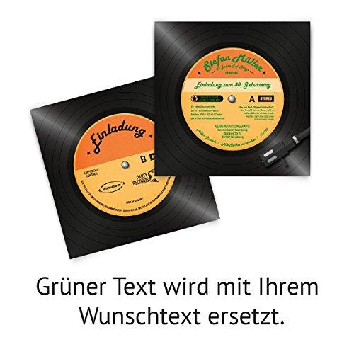 Einladungskarten Zum Geburtstag (60 Stück) Als Schallplatte Vinyl LP CD  Musik Platte: Amazon.de: Bürobedarf U0026 Schreibwaren