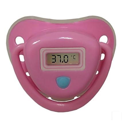 NAIZUI Soother del pezón del silicio Probador de Temperatura Electrónico Resistente al agua suave Para bebés