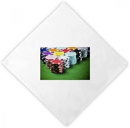 DIYthinker Fichas de la Mesa de Juego Photo Verde Cena servilletas Almuerzo Blanca de Tela Reutilizables 2pcs: Amazon.es: Hogar