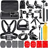 Navitech 18-in-1 Action Camera Accessories Combo Kit with EVA Case Compatible with The Samsung HMX-QF30BP/EDCSENDOW 4K HD | SENSORIE WiFi Action Cam