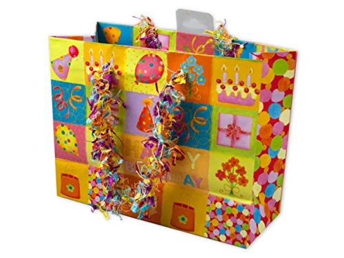 Kole Imports AF400-72 Small Happy Birthday Giftbag with Confetti Handles44; 72 Piece