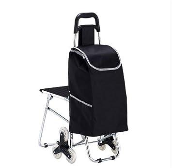 D&F Carro de plataforma rodante, tiendas de comestibles Suministros plegable carrito de supermercado carros de