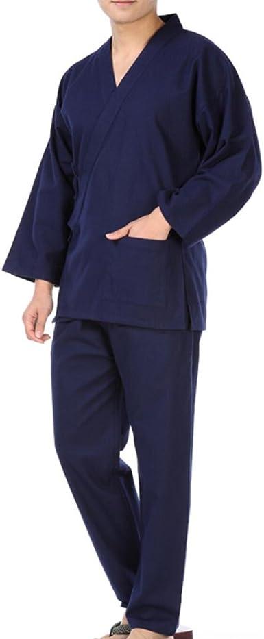Traje de Pijama de Kimono Texturizado Kimono Estilo japonés de los Hombres del Estilo - # C