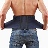 Back Support Lower Back Brace - provides Back Pain Relief - Breathable Lumbar Support keeps your Spine Straight and Safe - Large size Belt for Men and Women