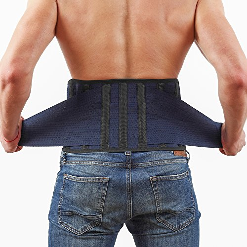 Back Support Lower Back Brace Provides Back Pain Relief - Breathable Lumbar Support Belt for Men and Women Keeps Your Spine Straight and Safe - Size 38''- 45