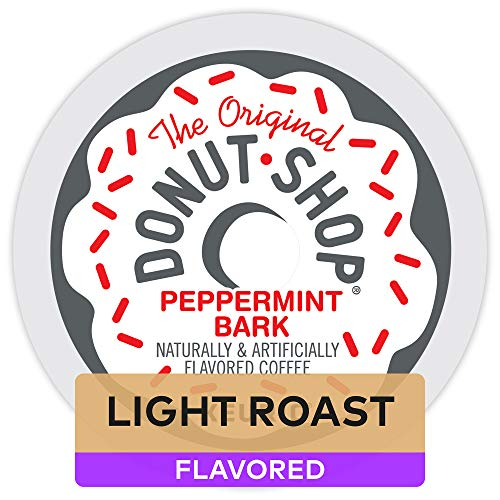 The Original Donut Shop Coffee Peppermint Bark, Single Serve Coffee K Cup Pods for Keurig Brewers, Flavored Light Roast, 72Count