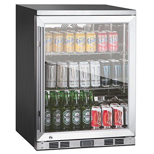 1-Door Front Venting Full Stainless Steel Bar Fridge by Kingsbottle