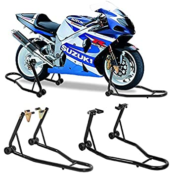 Amazon com: Motorcycle Stands Front Headlift and Rear Stand