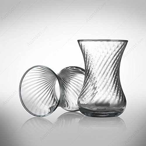 12 Unidades Vasos de té turco incebel aspecto 130 cc, 2 x 6 unidades: Amazon.es: Hogar